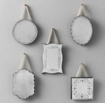 mini distressed wall mirrors - RH Baby & Child