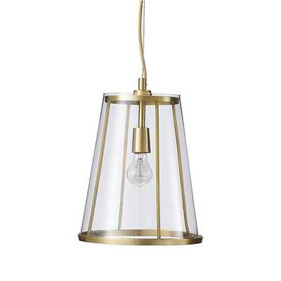 Madison Tapered Glass Pendant - Crate and Barrel