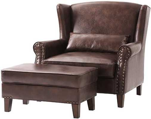ZOEY ARMCHAIR WITH OTTOMAN - Home Decorators