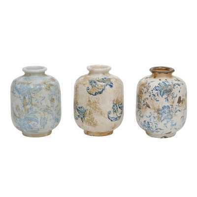 Indigo Terra Cotta Vase - Wayfair