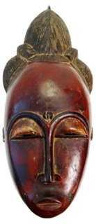 African Baule Female Mask - One Kings Lane