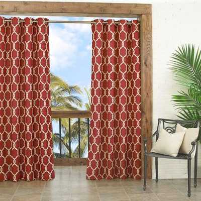 Totten Key Trellis Single Curtain Panel - Wayfair