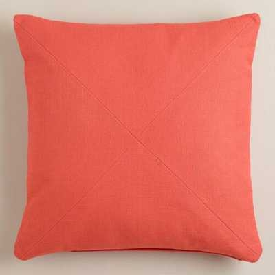 "Herringbone Cotton Throw Pillow, 20""Sq, Polyster insert - World Market/Cost Plus"