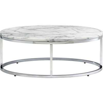 Smart Round Marble Top Coffee Table - Domino