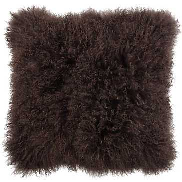 """Mongolian Pillow 22""""- Chocolate- Insert Sold Separately - Z Gallerie"""