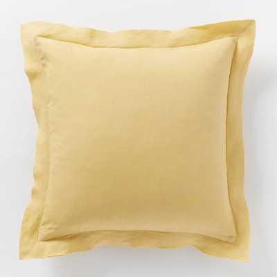 Belgian Linen Pillow Cover - Horseradish - West Elm