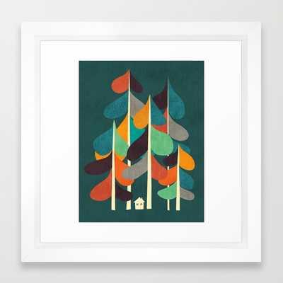 """ART PRINT/VECTOR WHITE MINI (12"""" X 12"""")-FRAMED - Society6"""