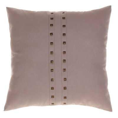 """Jessa Throw Pillow - 20""""x20"""" - Latte - Feather down insert - Wayfair"""