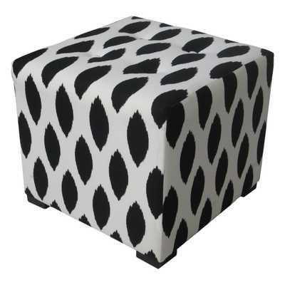Sole Designs Black/ White Tufted Ottoman - Overstock