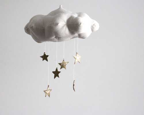 Gold Star Cloud Mobile - Etsy
