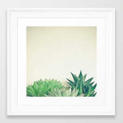 """Succulent Forest - 12"""" X 12"""" - framed - Society6"""