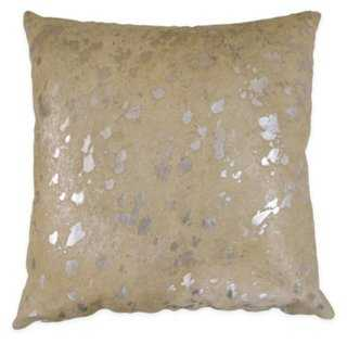 """Contrast Hide Pillow, Beige-18"""" x 18""""-with insert - One Kings Lane"""