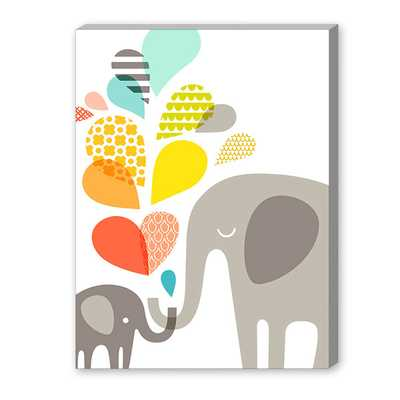 Elephants Graphic Art on Canvasby Americanflat - Wayfair