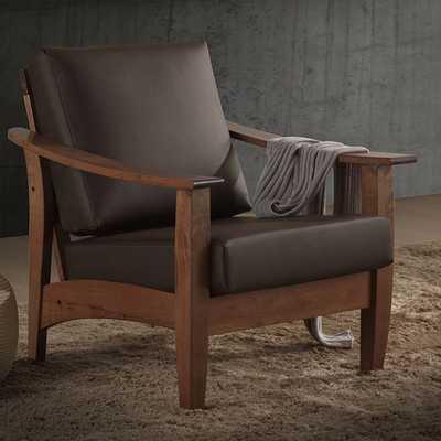 Baxton Studio Faux Leather 1 Seater Arm Chair - AllModern