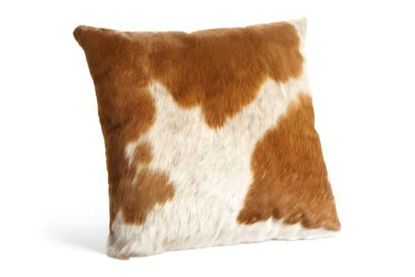 Natural Cowhide Pillows - 21x21, With Insert - Room & Board