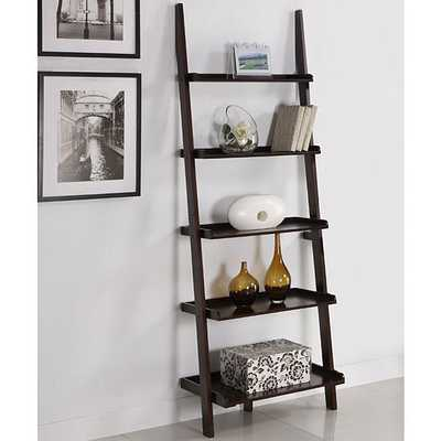 Walnut Five Tier Ladder Shelf - Overstock