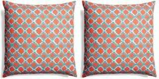 S/2 Lively Cotton Pillows, Multi - One Kings Lane