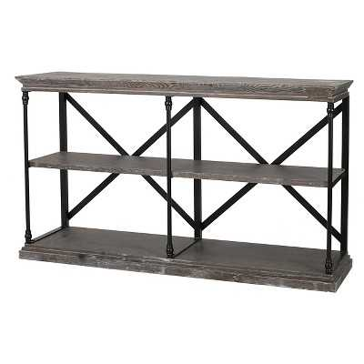 Christopher Knight Home Appleton Two-Shelf Industrial Media Bookcase - Target