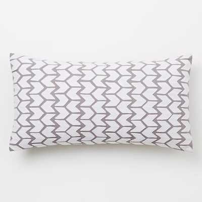 "Coyuchi Embroidered Arrow Pillow Cover- 14""w x 26""l - Insert sold separately - West Elm"