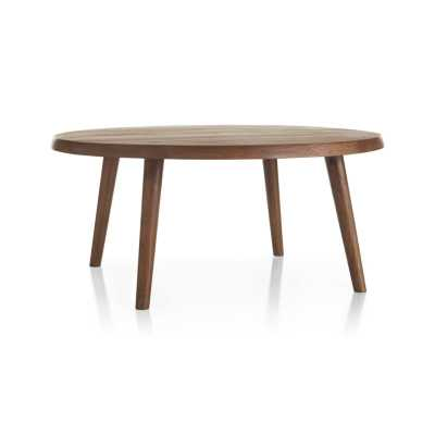 Edgewood Round Coffee Table - Crate and Barrel