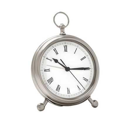 POCKET WATCH CLOCK - PEWTER - MEDIUM - Pottery Barn