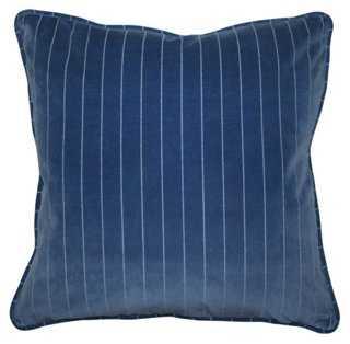 Mandello 22x22 Velvet Pillow, Royal Blue - feathers/down insert - One Kings Lane