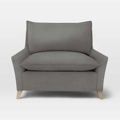 Bliss Chair + a Half, Linen Weave, Pebble - West Elm