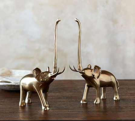 BRASS ELEPHANT OBJECT - Pottery Barn