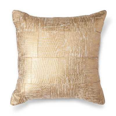 "Gold Cross-Hatch Pillow 18"" -Insert included - Target"