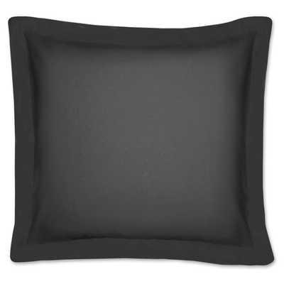 "Poplin Tailored Cotton Blend Euro Sham-Black-26""x26""-With Insert - Overstock"