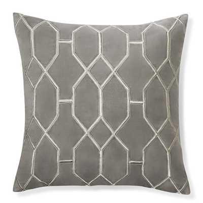 "Geometric Embroidered Velvet Pillow Cover - 18"" sq. - Williams Sonoma"