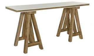 "Kirby 71"" Console, Natural/White - One Kings Lane"