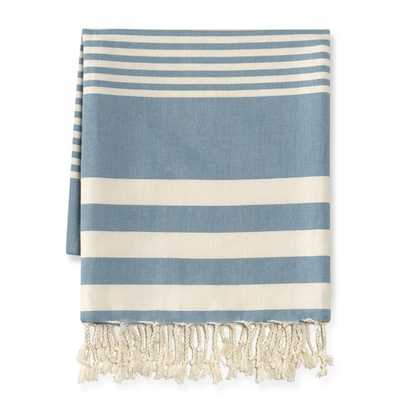 Montauk Lightweight Stripe Throw - Williams Sonoma Home