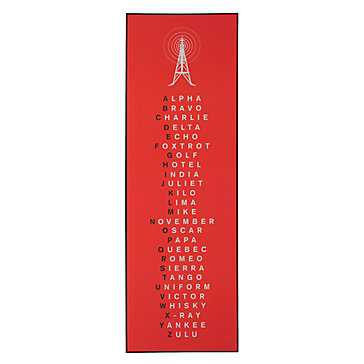Phonetic Alphabet Red - 12''W x 36''H - Z Gallerie
