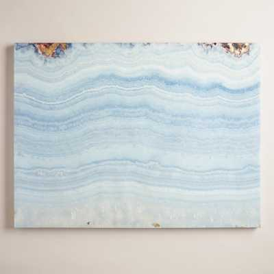 Blue Agate Wall Art - 30 x 40 - Unframed - World Market/Cost Plus