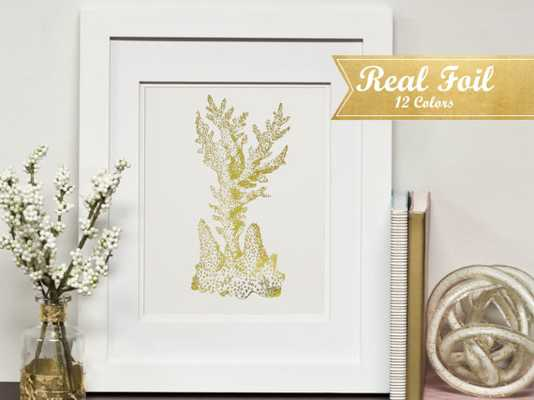 "Real Gold Foil Print With Frame - 5"" x 7"" - Etsy"