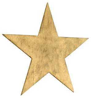 """30"""" Big Star, Gold - One Kings Lane"""