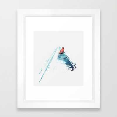 "From nowhere to nowhere - 10"" X 12"" - Framed - Society6"