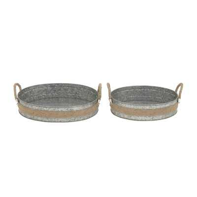 2 Piece Rope Tray Set - Wayfair