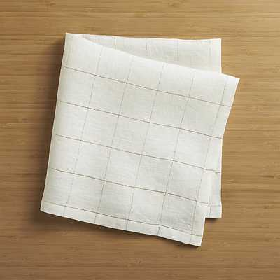 Myla Gold Linen Napkin - Crate and Barrel