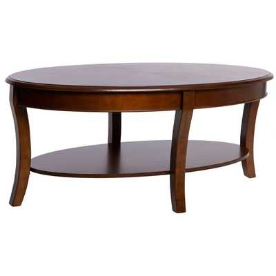 Oval Walnut Coffee Table - Overstock