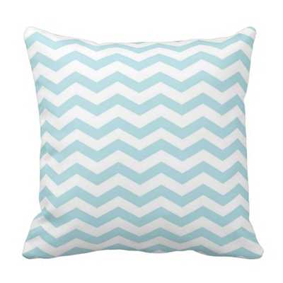 Light Blue Chevron Pillow - zazzle.com