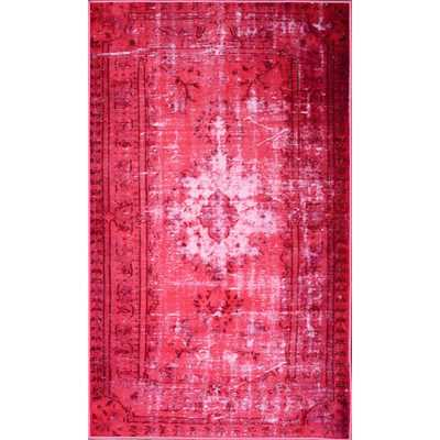 Hawkesbury Overdyed Style Harper Pink Floral Area Rug - AllModern