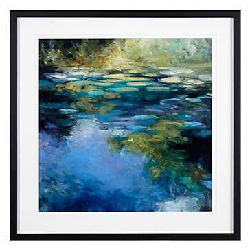 Water Lilies 3 - 31.5''W x 31.5''H - Framed - Z Gallerie