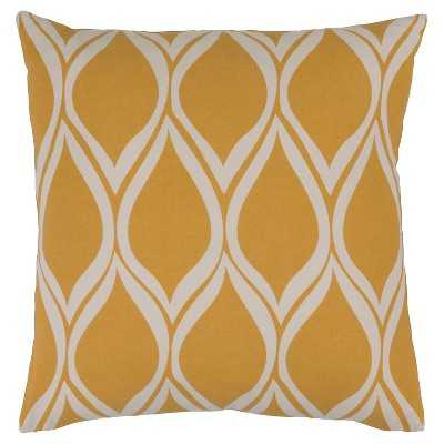 Surya Vexford Geometric Throw Pillow, gold - 18x18 - Polyester fill - Target