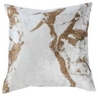 Ryan 18x18 Velvet Pillow Cover, Gold - One Kings Lane