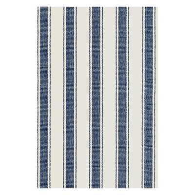 Woven Awning Blue/White Stripe Area Rug - Wayfair