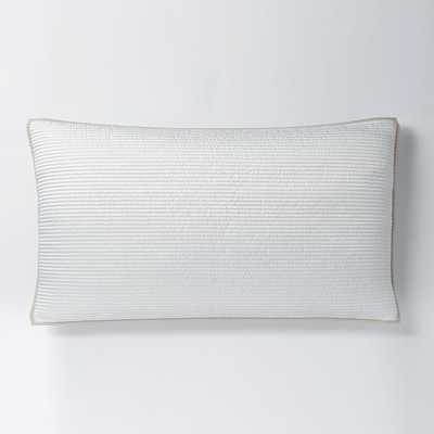 Channel Stitch King Sham-Snow White - West Elm