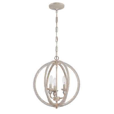 3 Light Mini Chandelier - Antique Linen - Wayfair