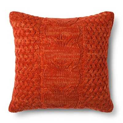 "Cable Knit Throw Pillow - Threshold - 20 x 20"" - Polyester fill - Target"